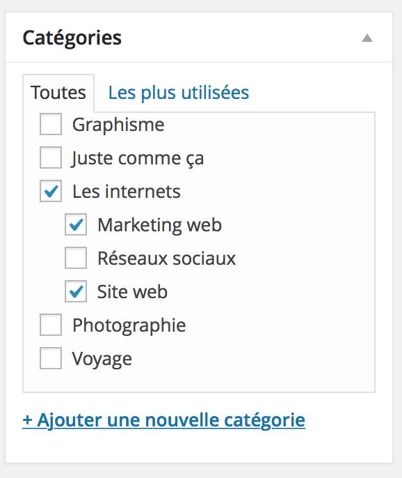 Wordpress site web nouvelles