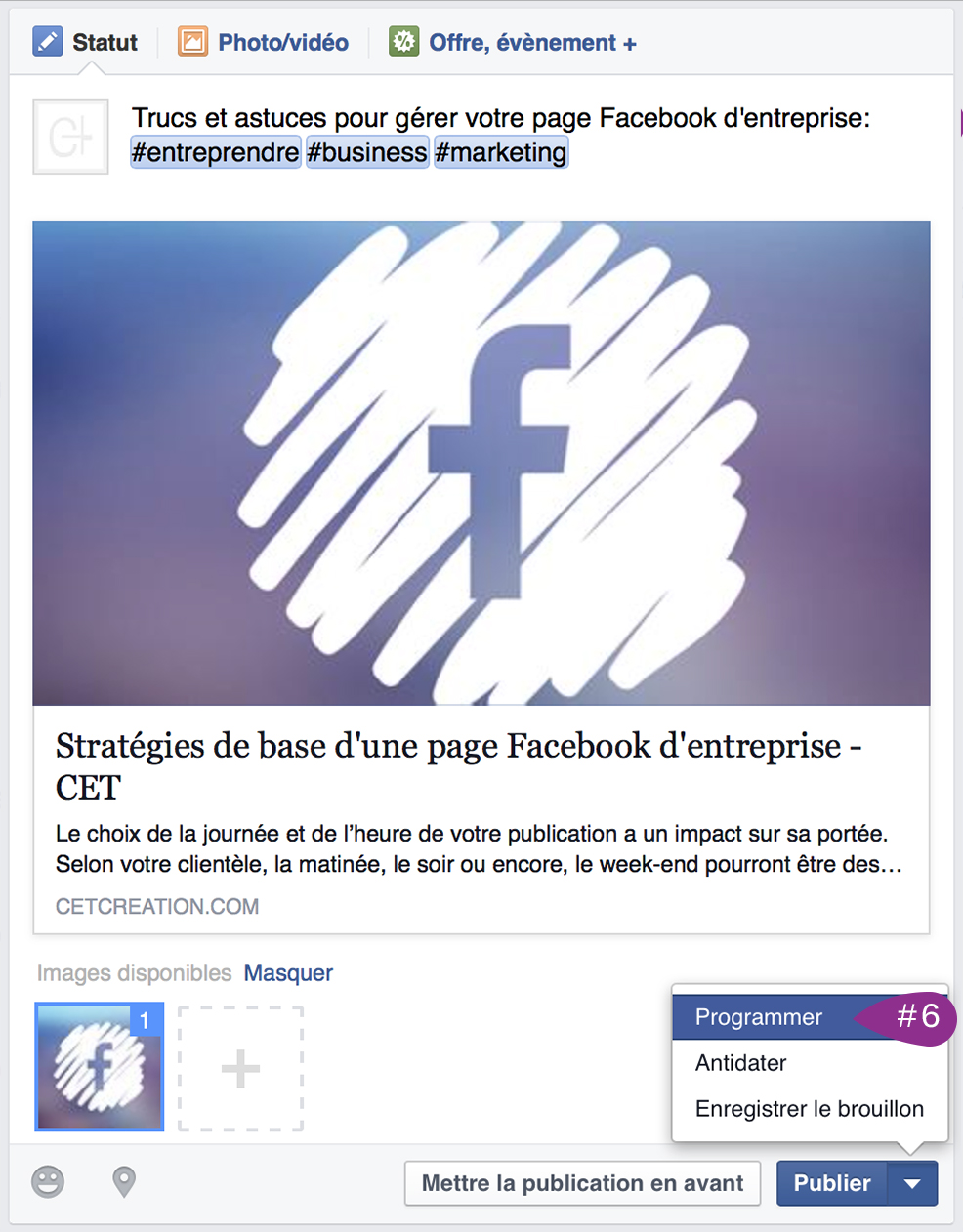 strategie web facebook entrepreneur