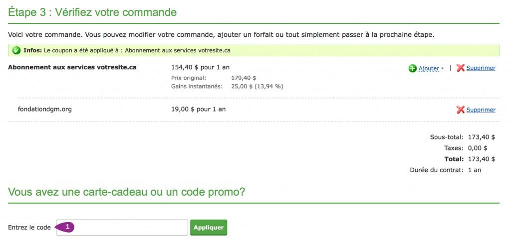 promotion hébergement web