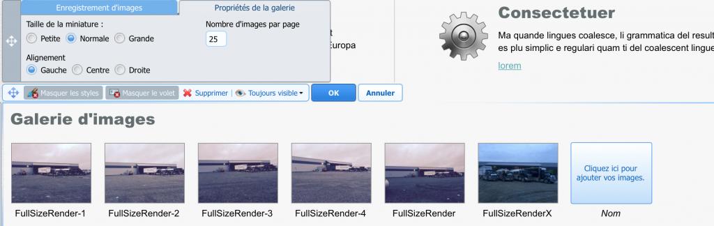 ajout dune galeries de photos