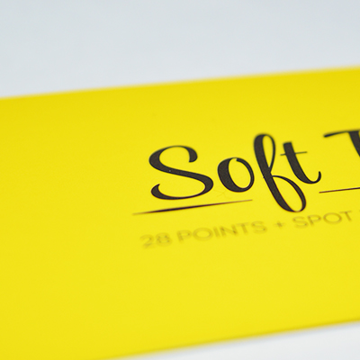 Soft touch carte d'affaires