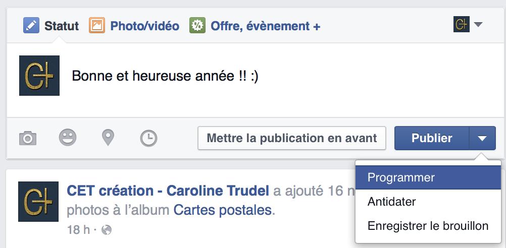 programmation facebook bonne annee