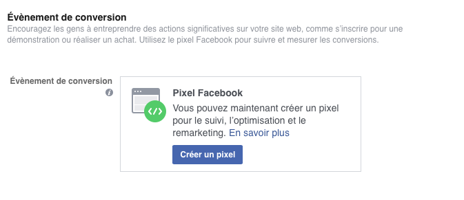 pixel de conversion facebook