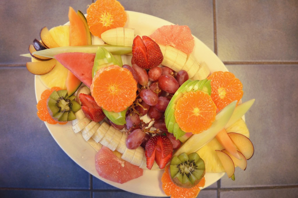 assiette de fruits photo