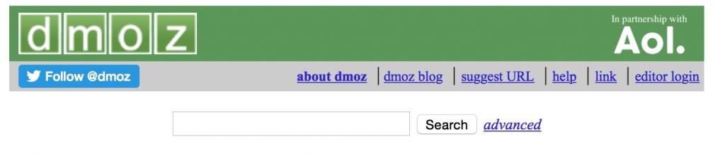 DMOZ répertoire web