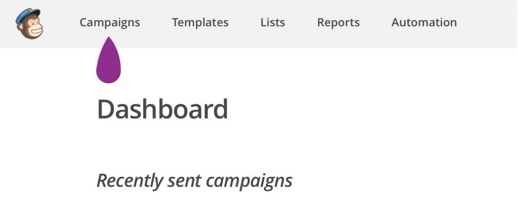 créé un campagne avec MailChimp