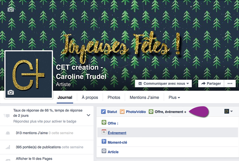 Evenment Facebook page