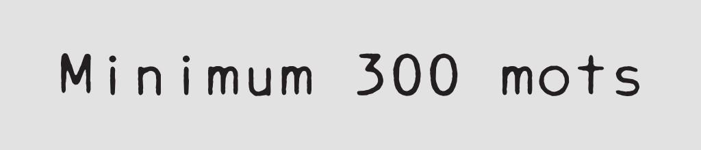 rédaction nombre de mots