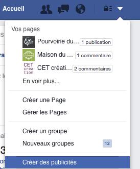 créer des publicités Facebook