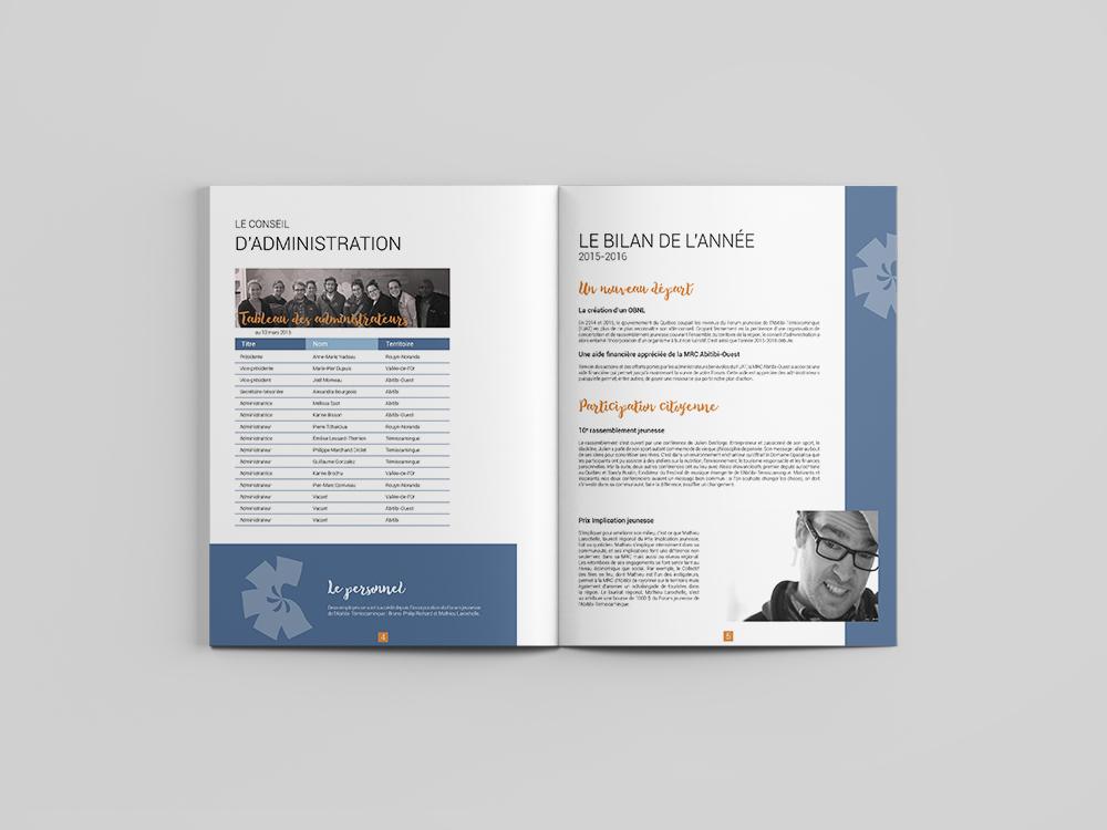 graphisme pour entreprise rapport annuel
