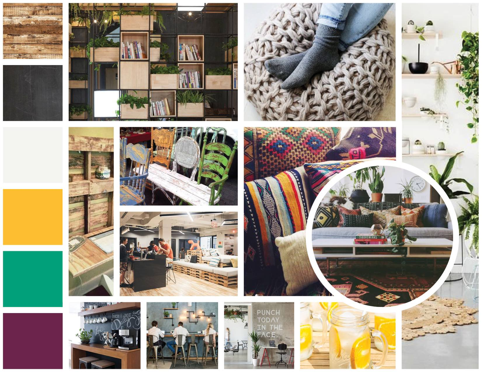moodboard inspiration ambiance coworking