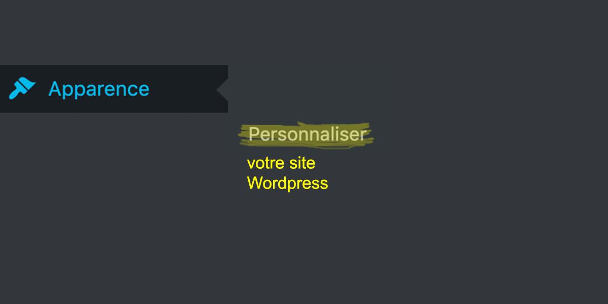 personnaliser votre site Wordpress