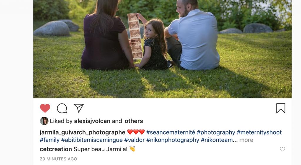 Instagram interaction entre entreprises
