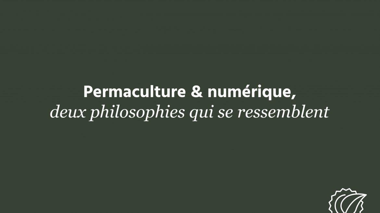 Permaculture & numérique