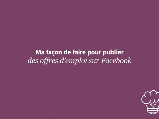 offre d'emploi sur facebook